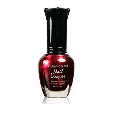 kleancolor nail lacquer-kcnp48-161 metallic red - White And Red Halloween Nails