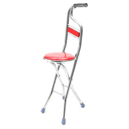 Cane Seat Walking Stick Folding Seat Portable Fishing Rest Stool Walking Cane Heavy Duty Type Light Adjustable Multifunctional Cane Chair for Elder Parents Gift - image 8 of 11