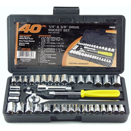 Standard Socket Set (Great Neck Saw PS040 1/4