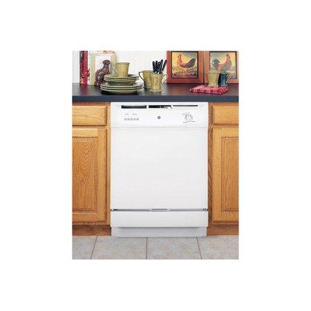 GE GSD3300KWW - Dishwasher - built-in - Niche - width: 24 in - depth: 24 in - height: 34 in - white