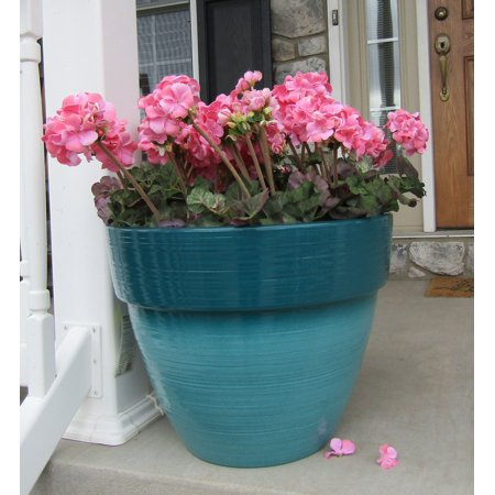 Better Homes And Gardens 19 Dubai Teal Decorative Planter