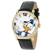 Disney Donald Duck Men's Gold Vintage Alloy Watch, 1-Pack