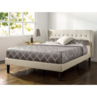 "Zinus Athena 45"" Upholstered Button Tufted Wingback Platform Bed, Queen"