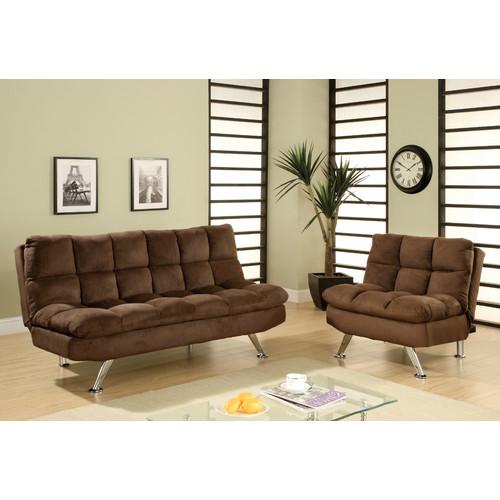 Hokku Designs Brooks Convertible Sofa and Chair Set