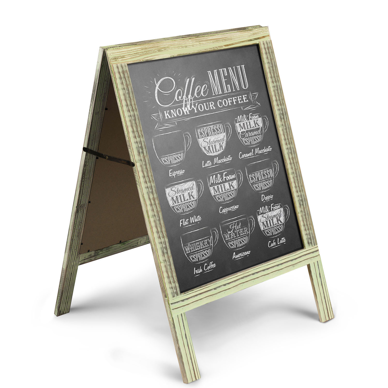 A Frame Chalkboard Sign Rustic Wooden Sidewalk Easel Chalk Stand Freestanding Sturdy Sandwich Board Double Sided Message Menu Display Vintage Torched Restaurant Chalkboard For Cafe Bar Walmart Com Walmart Com