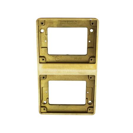 Wiremold Walker Legrand 827T Flange Two-Gang Brass Tile Flange,