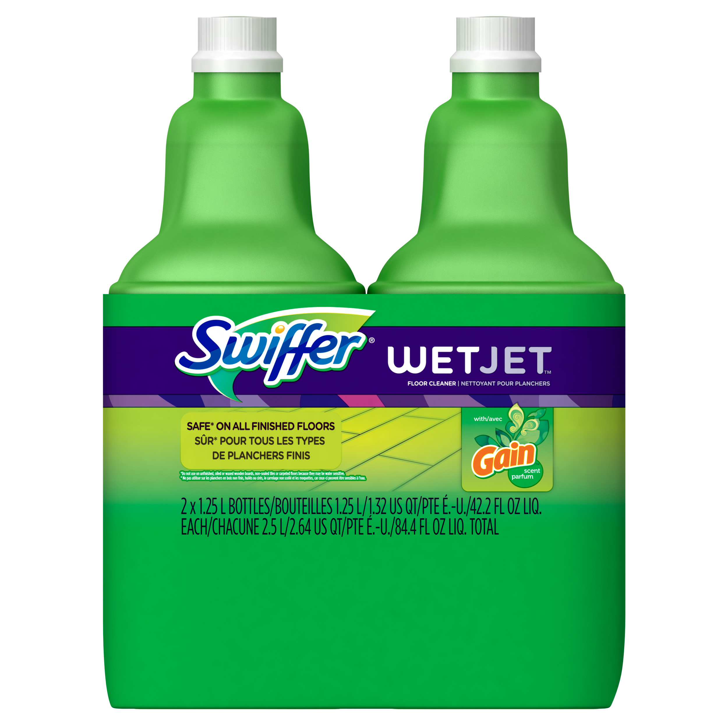 Swiffer WetJet Multi-purpose Floor Cleaner Solution Refill Gain Scent 2 Pack of 1.25L