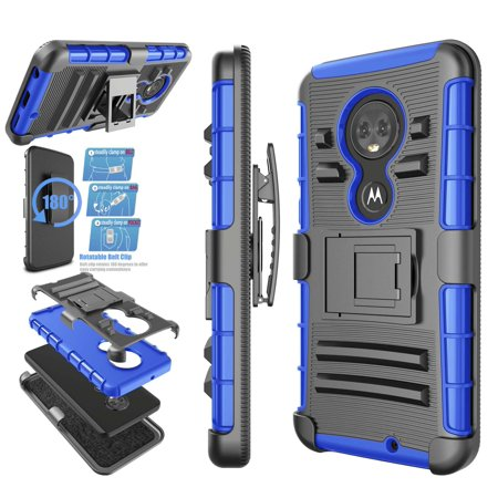 Moto G7 Case, Case For Moto G7, Njjex [Heavy Duty] Armor Shock Proof Dual Layer [Swivel Belt Clip] Holster with [Kickstand] Combo Rugged Case For Motorola Moto G7 6.0 inch