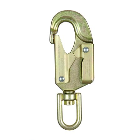 Fusion Climb Sector Carbon Steel Drop Forged Double Locking Swivel High Strength Gate Snap Hook Carabiner Gold ()