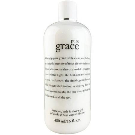 Philosophy Pure Grace Shampoo, Bath & Shower Gel, 16 Fl Oz (Pure Grade)