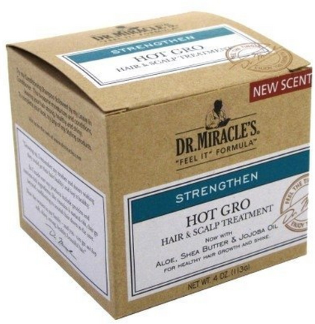 Dr. Miracle's Strengthen Hot Hair & Scalp Treatment, 4 oz (Pack of 2)