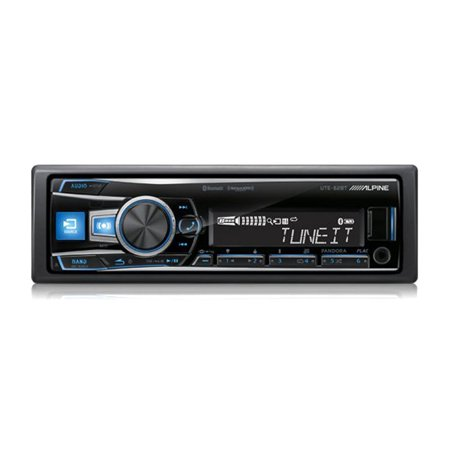 Alpine UTE-62BT 1 DIN Advanced Bluetooth Mech Less Car Audio Digital Receiver