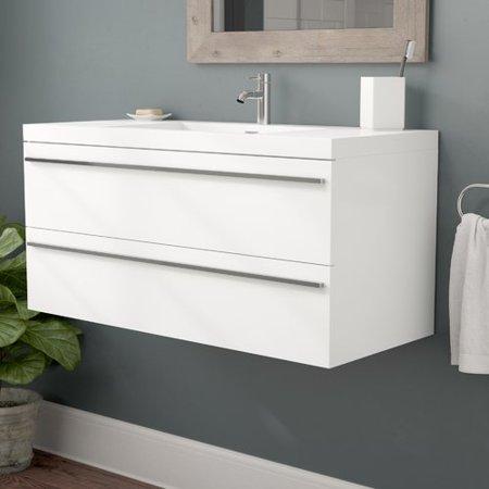 Foundry Select Bolivia 43 Wall Mounted Single Bathroom Vanity Set