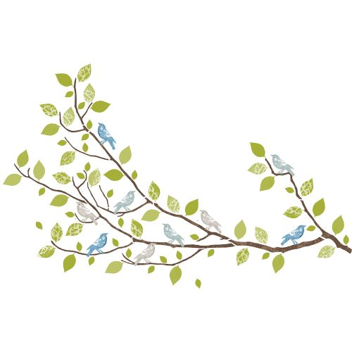 WallPops Sitting in a Tree Wall Art Decals