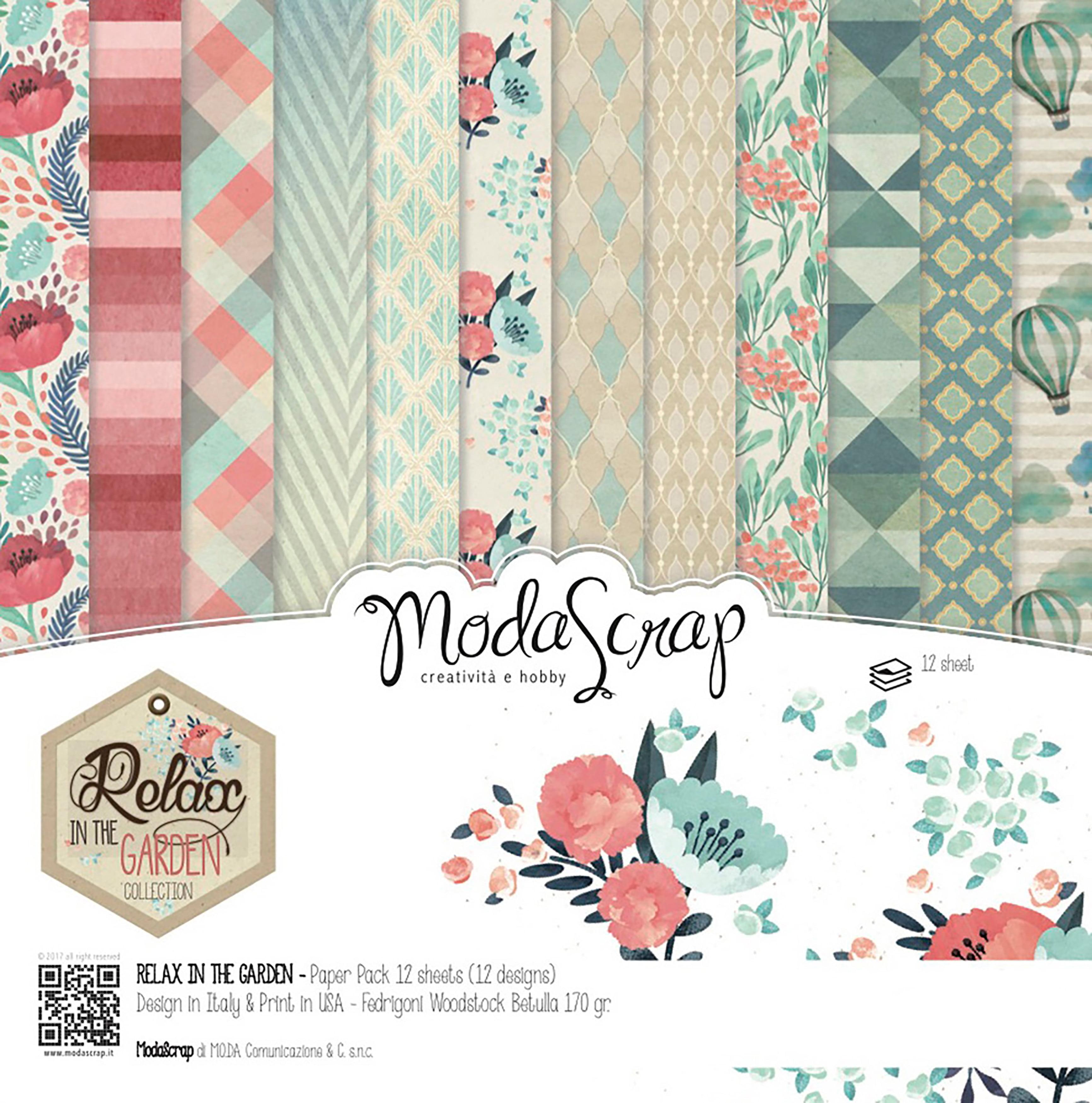 "Elizabeth Craft ModaScrap Paper Pack 6""X6"" 12/Pkg-Relax In The Garden"