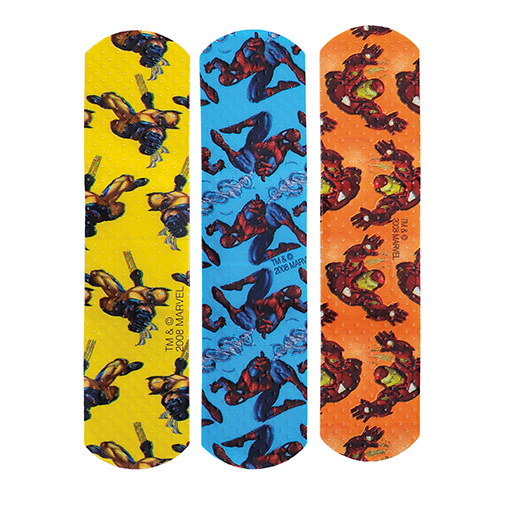 Spiderman Adhesive Bandages Stat Strip,3/4 x 3 Inch-Box of 100