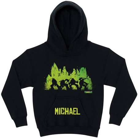 Personalized Teenage Mutant Ninja Turtles Silhouette Black Youth Hoodie