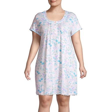 Plus Floral Printed Sleepshirt