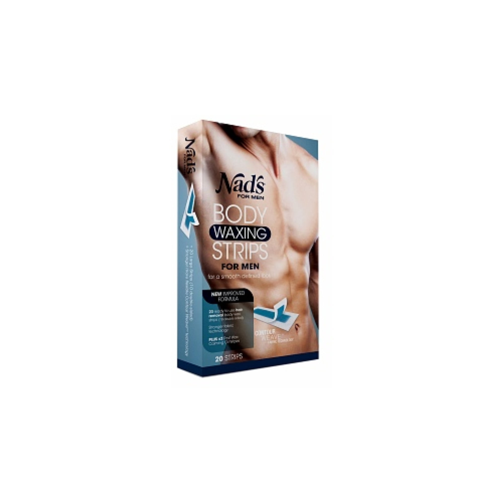 Nad S For Men Large Hair Removal Strips 20 Ct Walmart Com