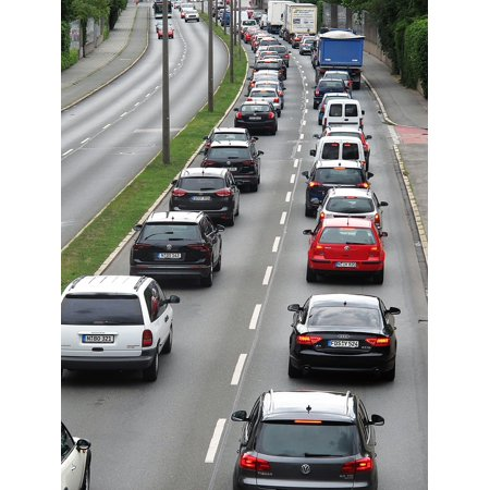 Canvas Print City Highway Traffic Slowly Jam City Stop and Go Stretched Canvas 10 x (Best Stops On Highway 1)