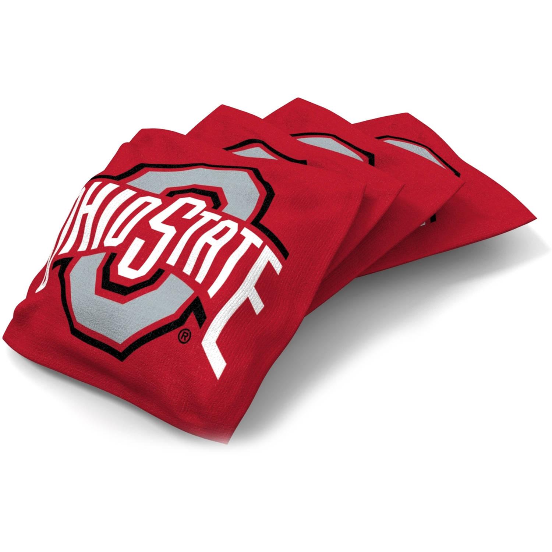 Wild Sports Collegiate Ohio State Buckeyes XL Bean Bag 4pk