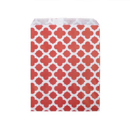 Red Treat Bags (100PCS Aspire Food Safe Biodegradable Paper Favor Bags Candy Treat Bag for Party, 7