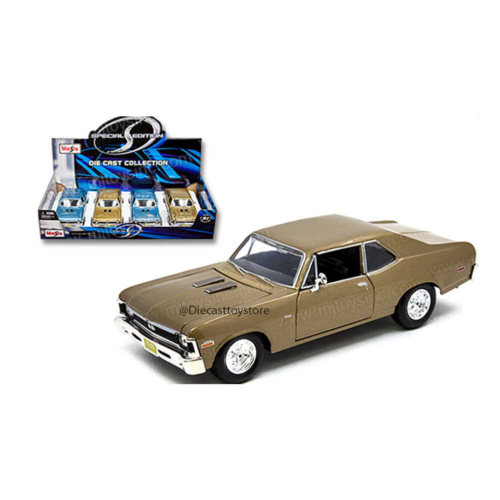 MAISTO 1:24 DISPLAY SPECIAL EDITION 1970 CHEVROLET NOVA SS SET OF 2 34262MJ NO RETAIL BOX