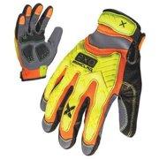 IRONCLAD EXO-HZI-03-M Medium Orange TPR Puller Cuff Mechanics Gloves