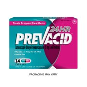 Prevacid 24HR Proton Pump Inhibitor (PPI) for Heartburn Relief, 14 count