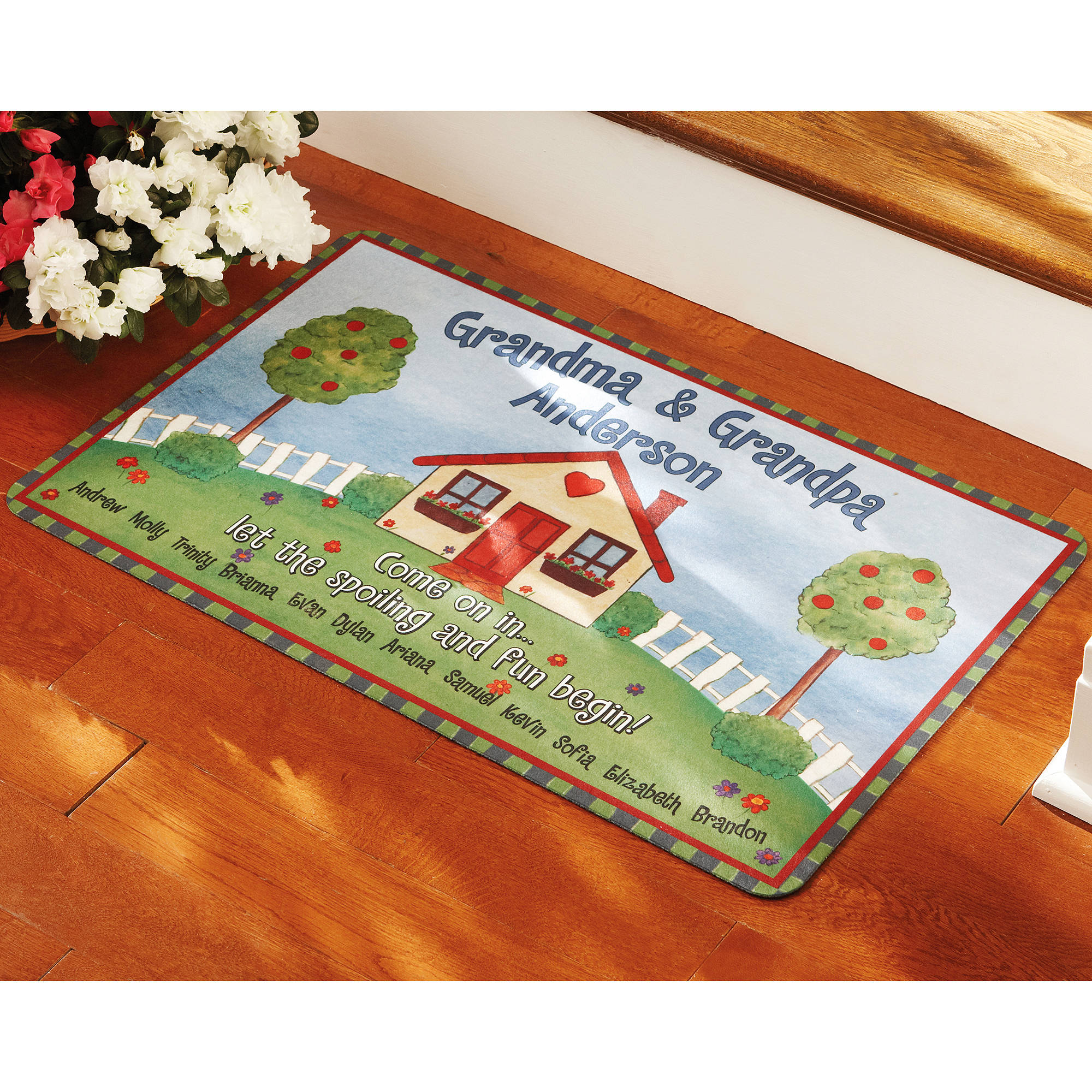 Personalized Grandma & Grandpa Doormat, Multiple Sizes