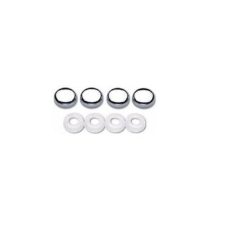 Chrome License Plate Caps Bolt Covers - Set of 32 ()