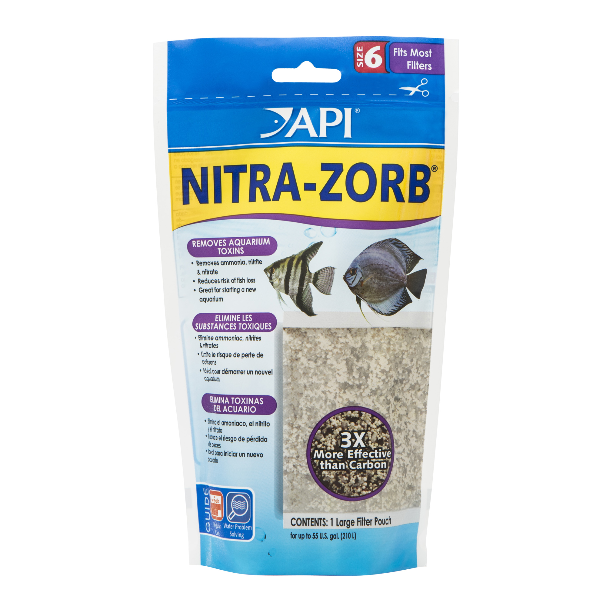 API Nitra-Zorb Size 6, Aquarium Canister Filter Filtration Pouch, 1-Count