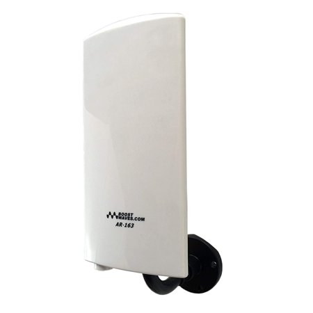 Boostwaves Amplified Digital Outdoor Indoor HDTV Antenna AR-163 UHF/VHF Far Range OTA (Ota Indoor Antenna)