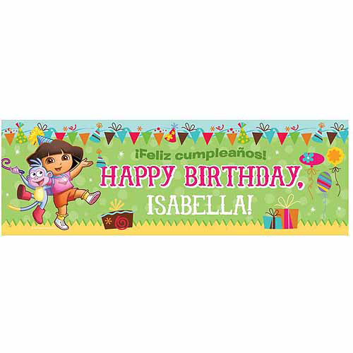 Personalized Dora the Explorer Birthday Banner