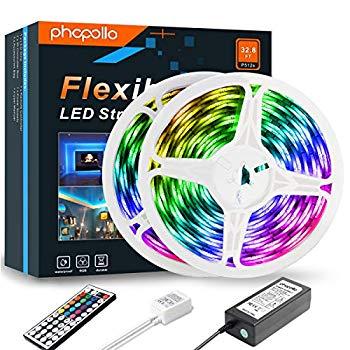 LED Strip Lights 32.8ft RGB SMD 5050 Tape Light Waterproof Color Changing Flexib