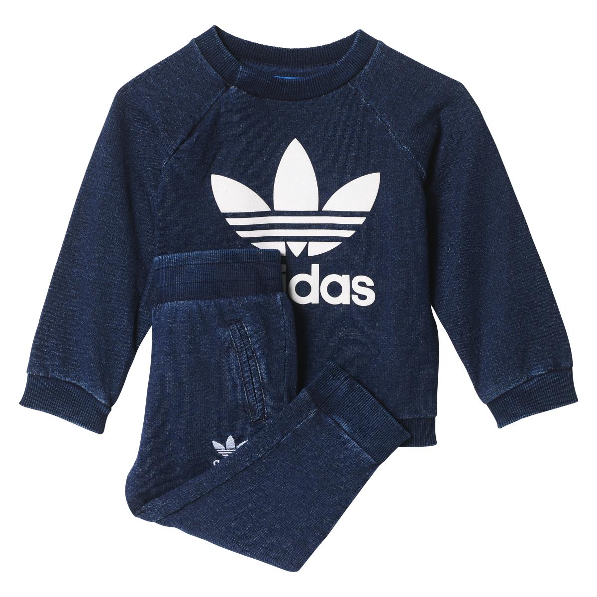 Adidas Originals Denim Infant Crew Track Suit Collegiate ...