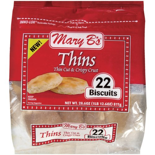Mary B's Thins Biscuits, 22 ct, 28.6 oz