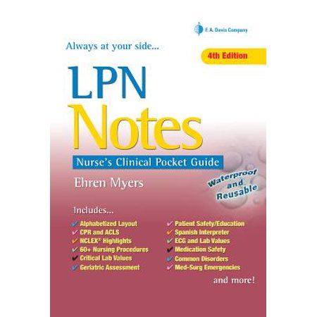 LPN Notes : Nurse's Clinical Pocket Guide