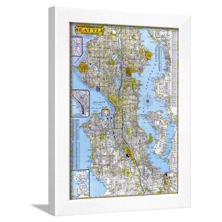 1960, Seattle 1960, Washington, United States Framed Print Wall Art (1960 United States Proof)