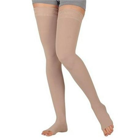 Juzo 3512AGPESB IV Dynamic Thigh Highs 30-40 mmHg Open Toe Full Knit Petite (Petite Open Toe)