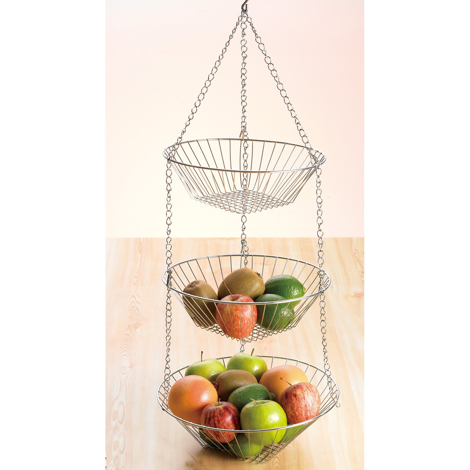 Creative Home Chrome Works 3 Tiered Hanging Baskets