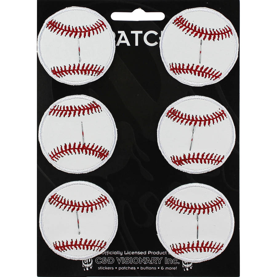 "C&D Visionary Patch, Baseball, 2"" Round, 6pk"