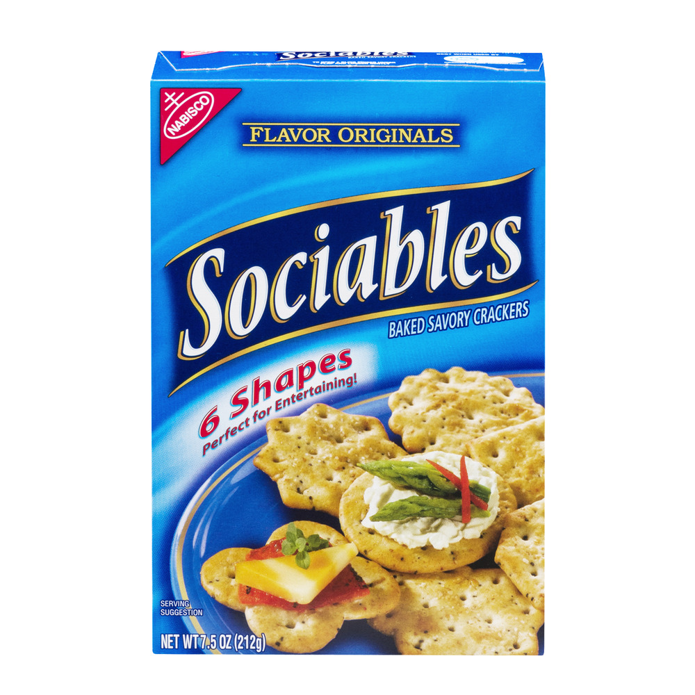 (2 Pack) Nabisco Flavor Originals Sociables Baked Savory Crackers, 7.5 oz