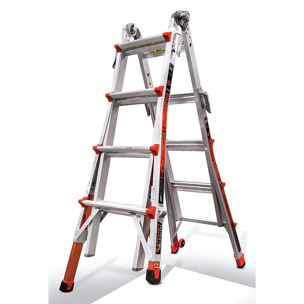Little Giant Revolution, Model 17 Type IA 300 lbs rated with trestle brackets and dual Ratchet... by Little Giant Ladder Systems