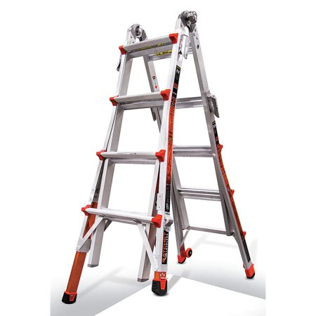- Little Giant Revolution, Model 17 - Type IA - 300 lbs rated with trestle brackets and dual Ratchet Levelers