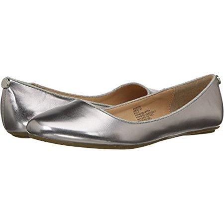 Steve Madden Girls' Jheaven Ballet Flat, Silver, 3 M US Little Kid](Girls Silver Flats)