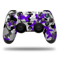 Skin Wrap for Sony PS4 Dualshock Controller Sexy Girl Silhouette Camo Purple (CONTROLLER NOT INCLUDED)