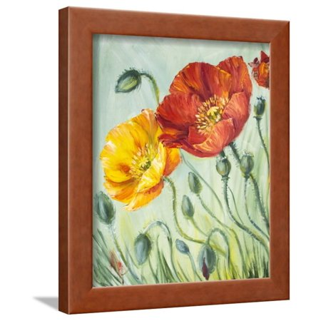 Poppies, Oil Painting on Canvas Framed Print Wall Art By Valenty