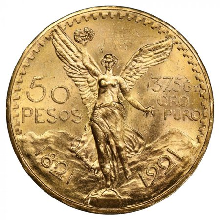 Mexican 50 Pesos Gold Coin - Average Circulated Random Year - Gold Washington Coin Set
