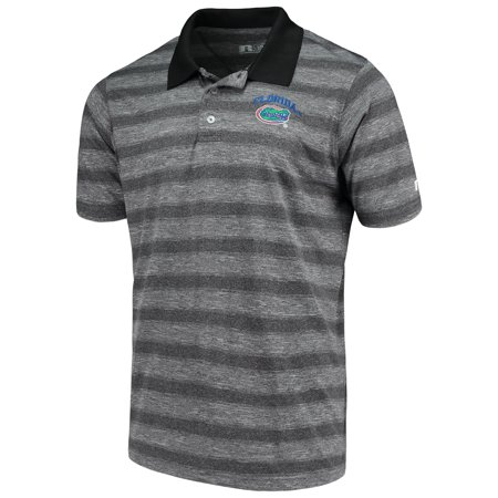 Gator Polo (Men's Russell Heathered Black Florida Gators Classic Striped)
